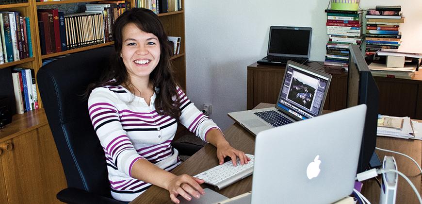 A photo of CIU student Amy Hamilton interning in Baumholder, Germany.