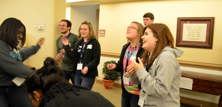 McQuilkin Scholarship Weekend at CIU includes fun group activities.