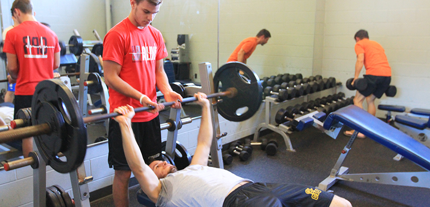 CIU students can work out at Moore Fitness Center, which has weight room, an aerobics room and a cardio room.