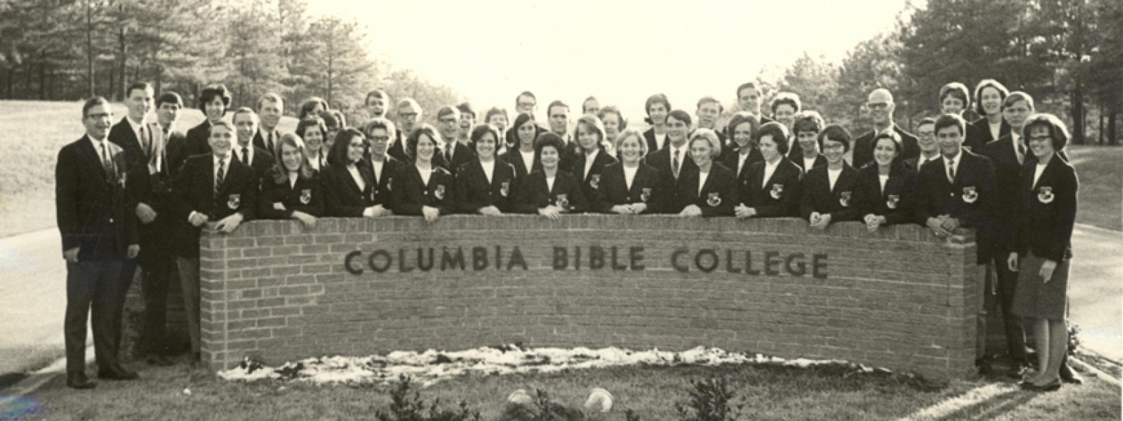Columbia Bible College Ambassador Choir - late 1960s