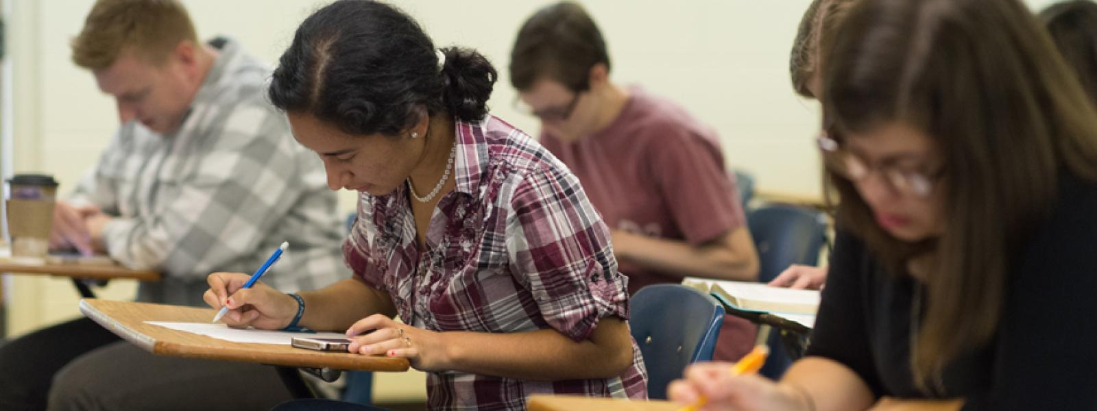 CIU undergraduate students in the classroom.